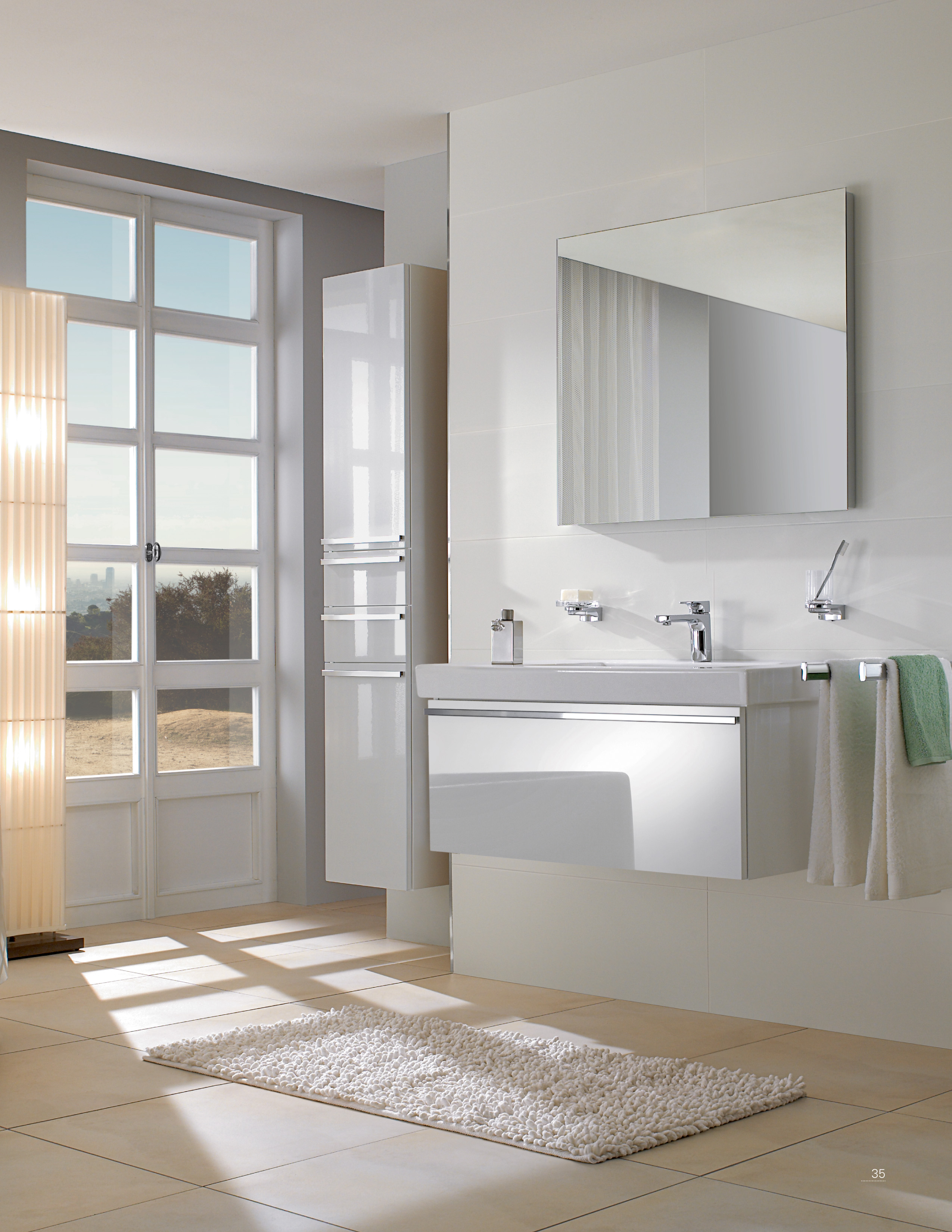 Central Line Bathroom furniture, Vanity unit for washbasin, Vanity units