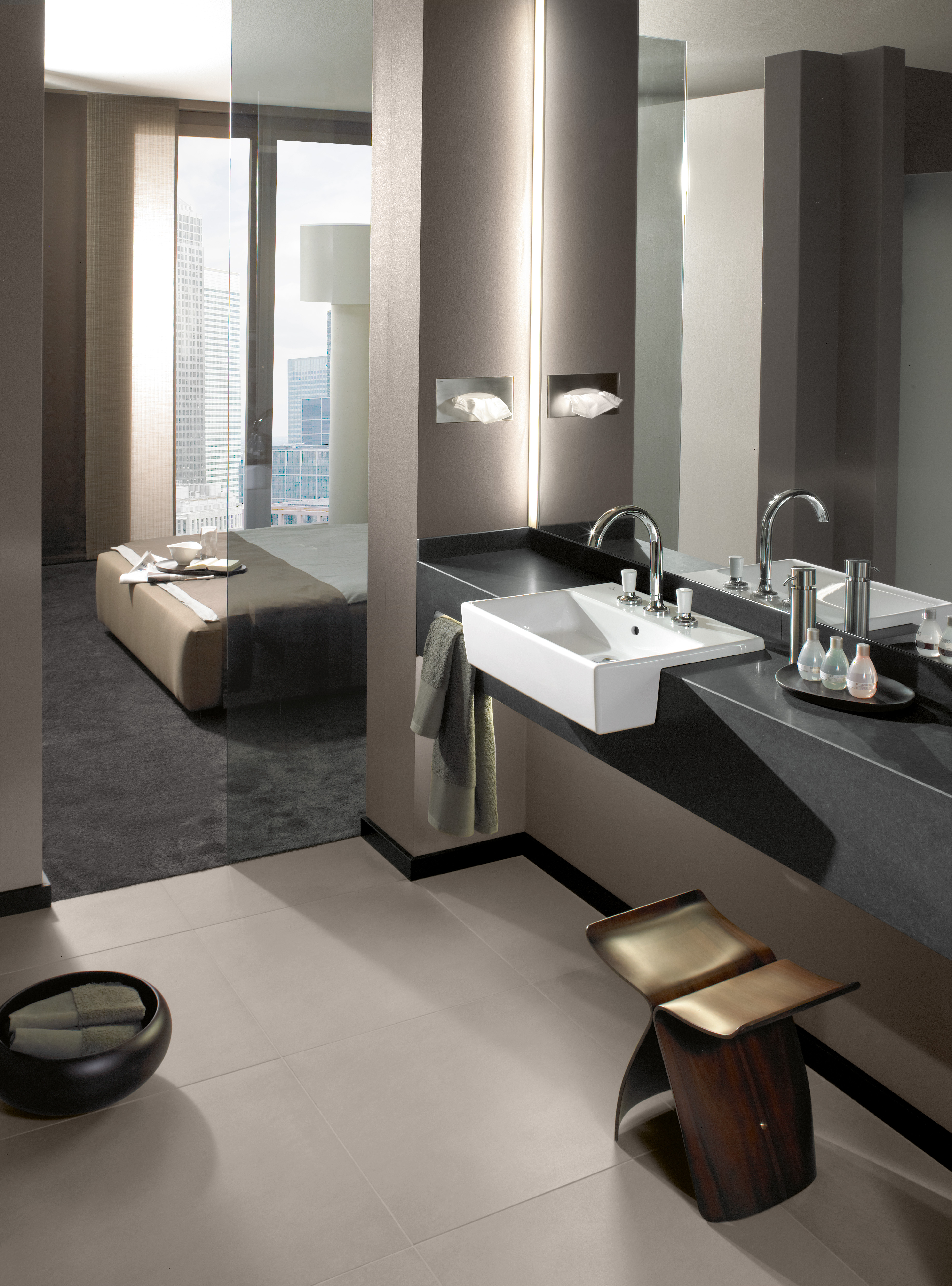 Memento Washbasin, Semi-recessed washbasin, Washbasins, Semi-recessed washbasins