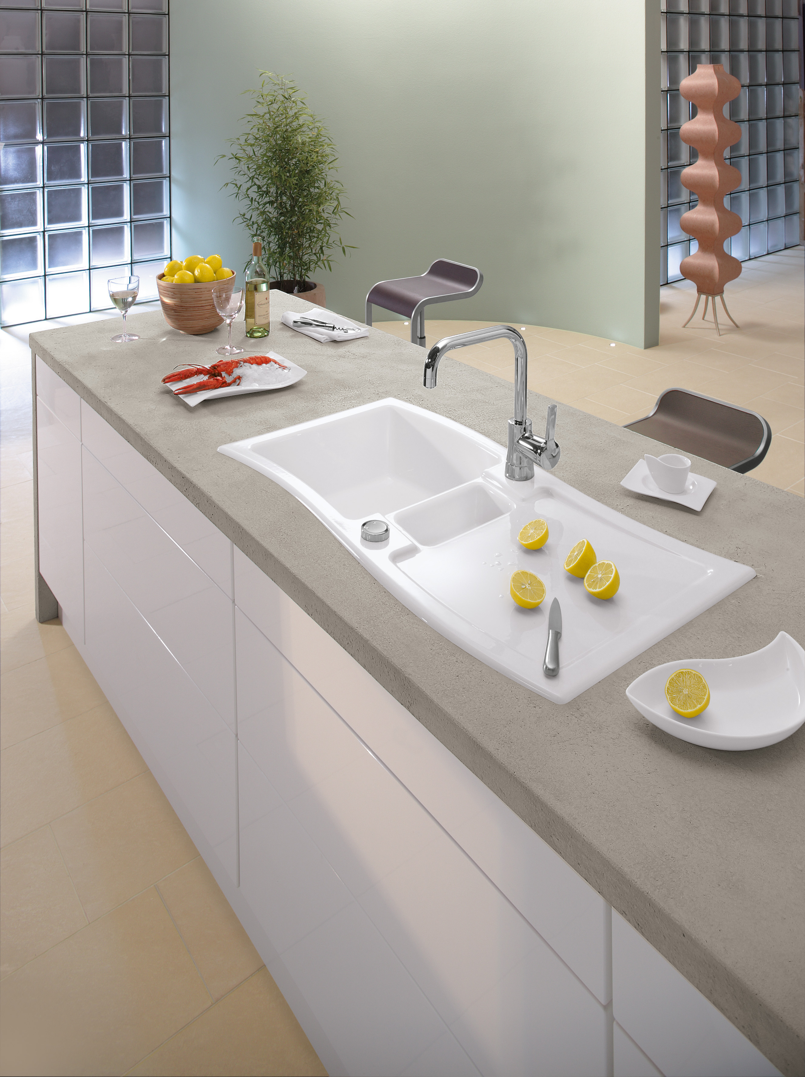 New Wave Built-in sinks