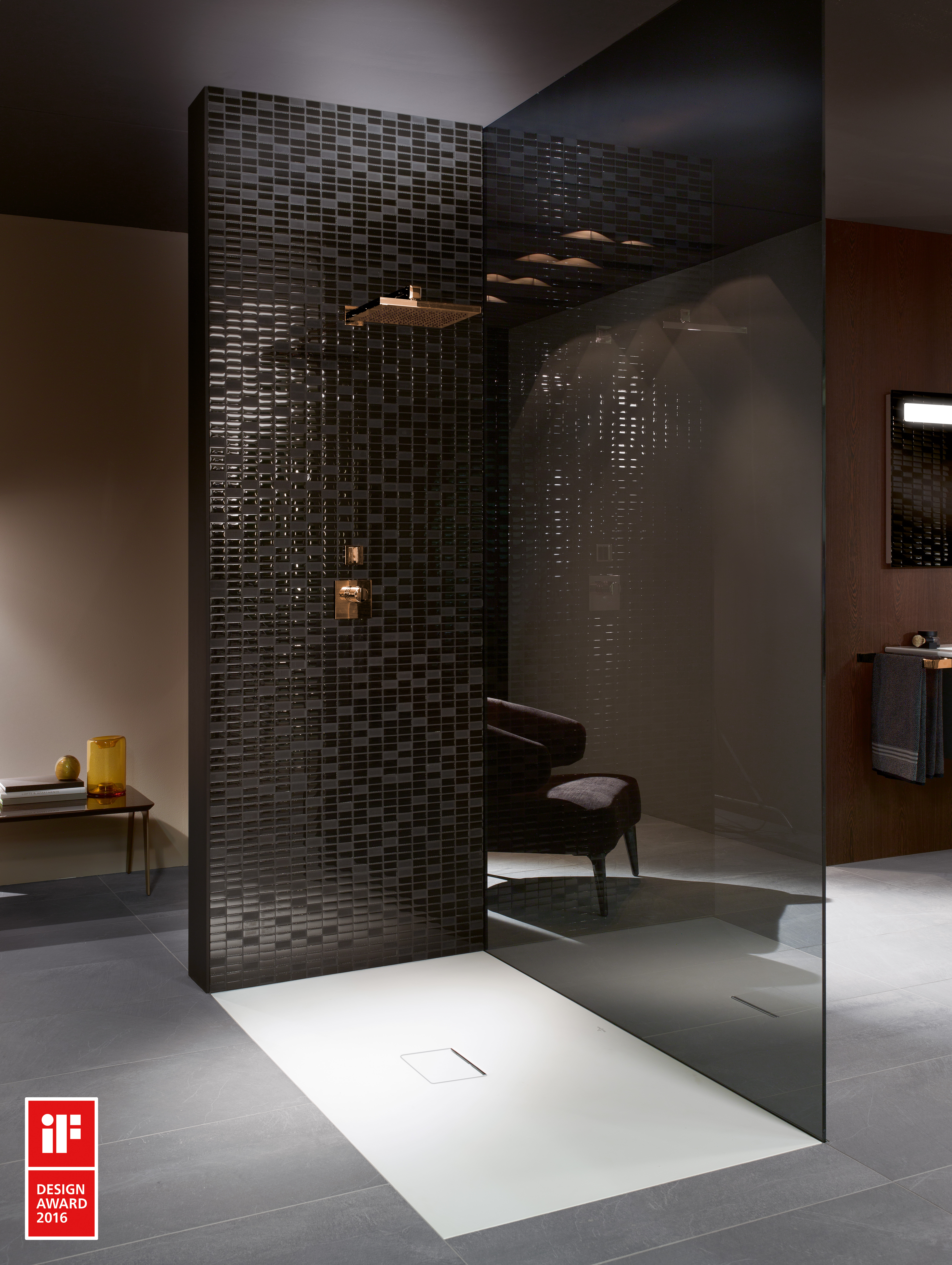 Squaro Infinity Shower tray, Shower trays (Acrylic, Quaryl), Shower trays